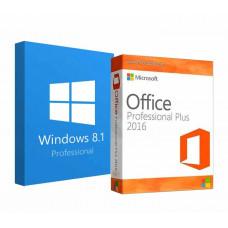 Windows 8.1 Professional + Office 2016 ProPlus